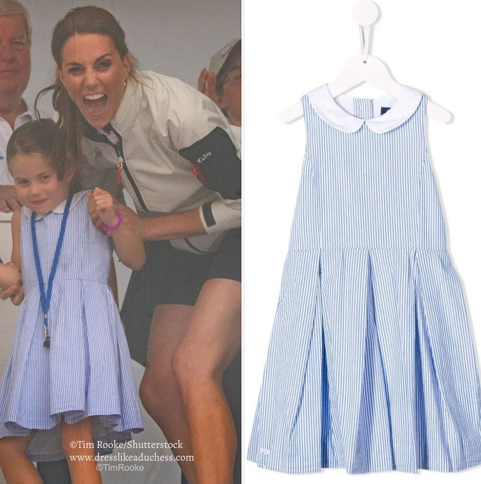 Smooth Sailing For The Duchess Of Cambridge In Sandro For