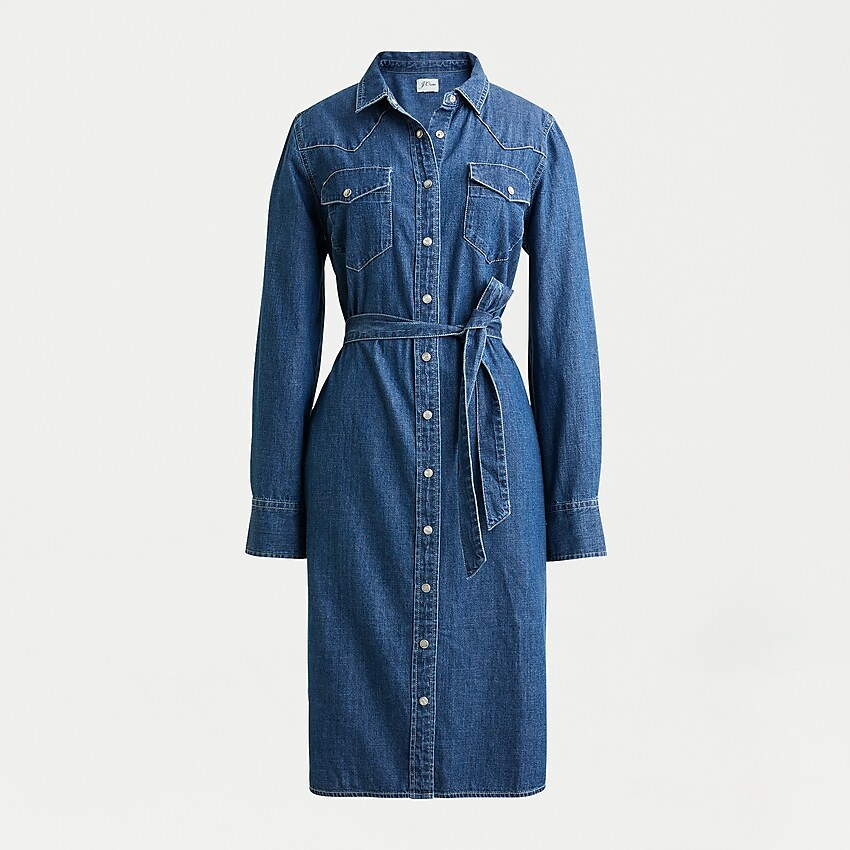 J.Crew Denim Shirtdress with Tie Belt-Meghan Markle