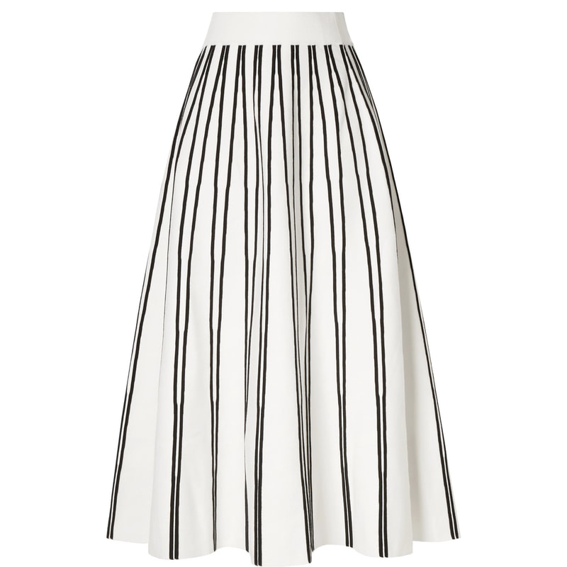 J. Crew Flare Striped Sweater Midi Skirt-Meghan Markle