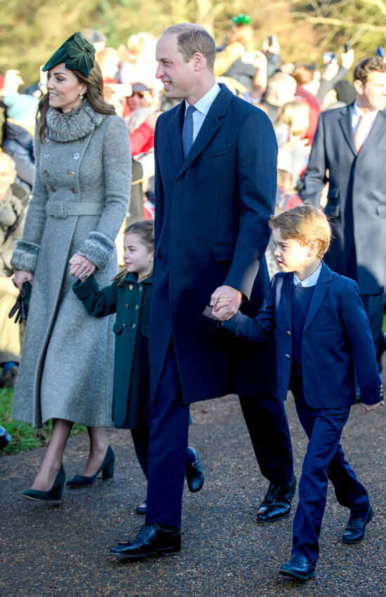 Duchess of Cambridge in Catherine Walker for Royal Family Christmas
