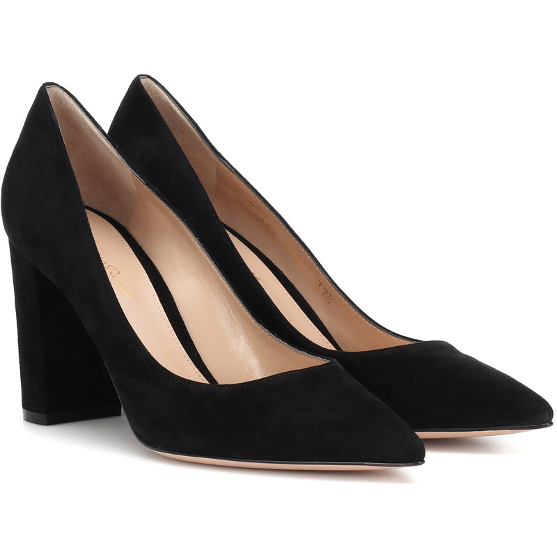 Gianvito Rossi 85 Piper Black Suede Pumps-Kate Middleton