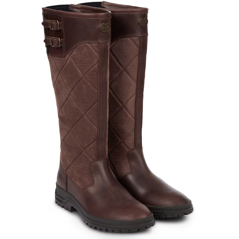 Le Chameau 'Jameson' Carmel Quilted Boots-Meghan Markle